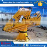 Fixed boom marine offshore ship crane 3t/5t with pedestal