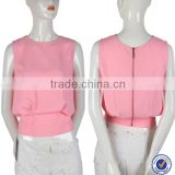 Wholesale ladies sexy crop top High Quantity sleeveless Plain Ladies fashion Top From China Alibaba