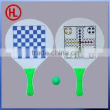 Hot sale JEU DE custom promotional Wooden Beach Tennis Racket with 2 chess set wholesale