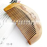 OEM Green sandalwood no static handmade comb,palo santo wood