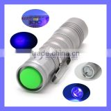 365NM Money Checker Mini Clip Torch UV Blacklight Urine Finder