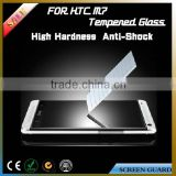 hot new products for 2015 cell phone accessory tempered glass screen protector for HTC One M7 mobile screen guard