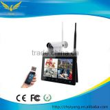 "9"" touch screen 720P wifi digital LCD cctv wireless ip camera system with built-in HDD slot & 1x 720P IR-cut camera"