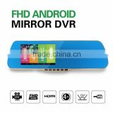5inch 1080p dual lens car rearview mirror camera ,car gps dvr rearview mirror with fm transmitter,smart view mirrors