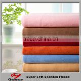 Make to order high quality velvet 90 polyester 10 lycra polar fleece fabric for Garments/Curtain/Sofa/Hometextile