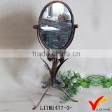 high quality french makeup metal free standing mirror