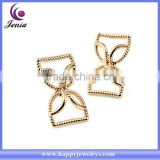 Cute earring design cheap price 18k yellow gold plated wholesale simple gold earring designs for women (YWE5042-1)