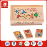 child toys wholesale 28 pcs EN71 goods star heart square roundess triangle rhombus polygon and so on craphics domino game set