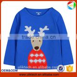 OEM new cheap plain t shirt long sleeve cartoon applique embroidery kid fall clothes wear long sleeve latest shirt designs