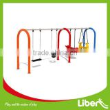 Galvanized Steel Type Outdoor Swing Set for Children, Backyard Swing Set for Garden