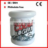 white color with logo printing inflatable beer cooler /beer ice bucket