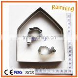 Wholesale stainless steel customized Shaped cookie cutter set