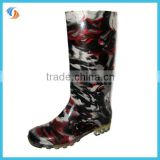 Women Knee High PVC Rain Boots High 34cm