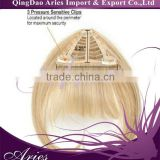 light blonde human hair bang clip in hair extension