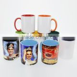 Sunmeta 11oz Blank Sublimation inner handle color Ceramic Mugs At Low Price Wholesale From Sunmeta
