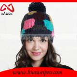Custom Hats women Knitted Winter Cap Casual Beanies colorful Hip-hop Snap Slouch Bonnet beanie