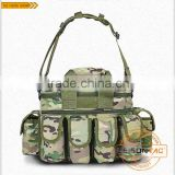 Multifunctional Tactical Bag with 1000D waterproof nylon/dual-zip flap with molle system