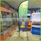 Polyester Feather Flag Promotional usage Advertising exhibition event outdoor Flying Beach Flag banner stand,Teardrop Flag