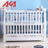 Height Adjustable Guard Wooden Baby Bed