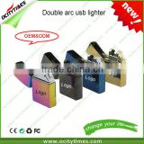 Free logo printing for No Gas e-Lighter USB Lighter/Electric Arc Cigar Cigarette Lighter/double arc USB lighter for sale                                                                         Quality Choice