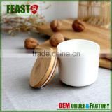 airtight ceramic container food storage jar with bamboo lids manufacturers