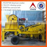 2015 china hot selling mobile rock crusher with good quality small mobile jaw crusher                                                                         Quality Choice