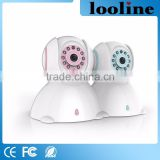 Looline Wifi Wireless Color Baby Monitor SD Card Recording Plug&Play CCTV White Color Baby 1.0Mp Camera