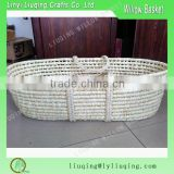 White Maize Peel Materials Baby Carrier Basket Baby Travel Basket Corn Bran Baby Cabas