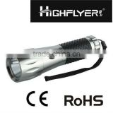new mini led lighting flashlight with black rubber in the body LFL1133