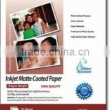 Dual/Double Side Matte Photo Paper for inkjet printer,120~300gsm,water dye and pigment ink