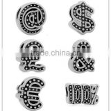 Ready Stock 6 Styles Symbol Vintage Tone 316L Stainless Steel European Charm Beads DIY Fashion Jewelry Accessories SEB-LG349