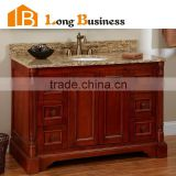 LB-LX2005 Best Price Solid Wood Bathroom Vanity Wholesale WIth Bath Mirror, white bathroom cabinet                                                                         Quality Choice