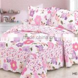 100%cotton bed sheets luxury bedspread patchwork bedding set in flower design