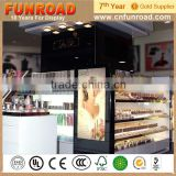2015 Customized Plywood Baking Paint Wooden Design Beauty Product Display Cases For Sale