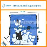 Wholesale popular cartoon print drawstring gym bag gift bag