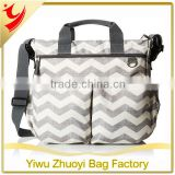 Chevron Baby Diaper Nappy Bag with Mesh Side Pockets