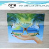 heat transfer printing wholesale microfiber cloth/custom print microfiber glasses cleaning cloth