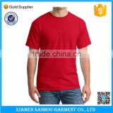 OEM Service Custom Printing Mens Blank Red T-Shirt Cotton High Quality
