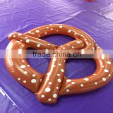 2016 new water float inflatable donut bread swim ring water park ring