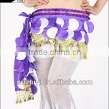 Wuchieal Nice Handmade Belly Dance Coin Belt Hip Scarf