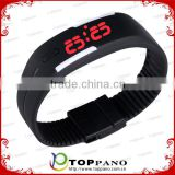 Fashion Sport LED Watches Black Color Silicone Rubber Touch Screen Digital Watches Waterproof Bracelet Wristwatch
