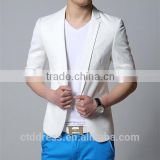 AC Style!!! Summer Comming!! Fasion colour Seven sleeves 100% cotton fabric men suits for summer wear