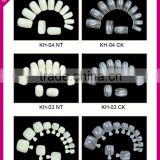 New arrival Salon DIY false nail tips 10sizes 500pcs plain false nails