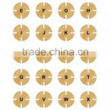 bamboo circle puzzle,eco bamboo toys for kids,christmas stamps py0027