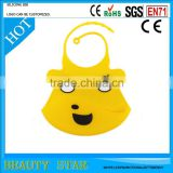 Waterproof baby silicone bib,China factory wholesale silicone baby bib