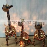 Coconut Shell Table Lamp (animals)