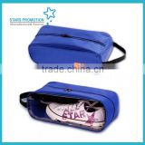 customized shoe bag; polyester/pvc shoe bag with handle;
