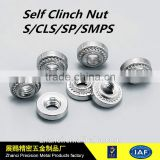 Dongguan factory high quality miniature fasteners , self cinching nuts, pem nut ISO9001:2008 approved