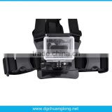 Chest Belt Strap Harness Mount for Gopro HD Hero3 Hero3 Hero2 Hero cameras adjustable(Black)
