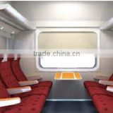 interior for railway passenger cars, locomotive and Metro design and production, assembly.